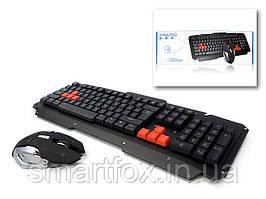 Комплект беспроводная клавиатура + мышка Gamer 6700