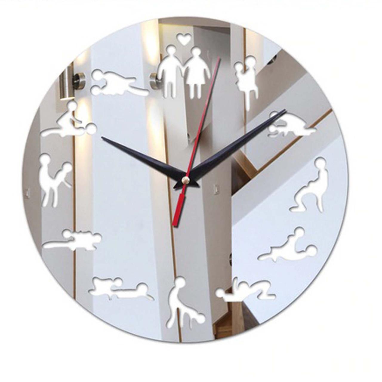 "Настінні 3D годинник з дзеркальним ефектом "" ХХХ """