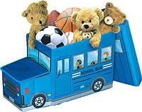 Пуф-корзина для игрушек Автобус