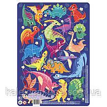 Пазл Dodo с рамкой Динозавры