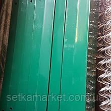 Стовп 2 м ,в порошковій фарбі, зеленого кольору, з труби 40×60 мм.