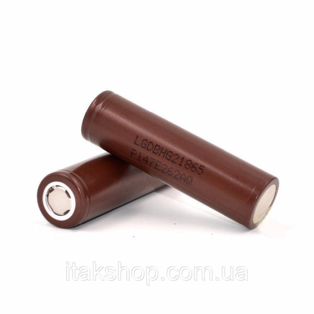 Аккумулятор LG INR18650HG2 3000 mAh (до 30А) оригинал (для электронных сигарет)