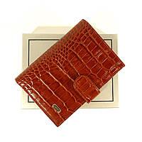 Мужская кожаная документница: автоправа + портмоне Desisan 101 коричневая кроко, расцветки в наличии, фото 1
