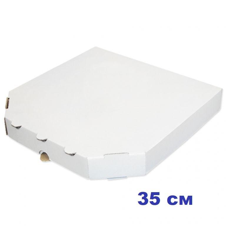 Коробка для пиццы, 35 см белая, 350*350*35, мм