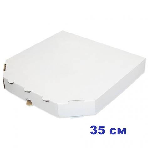 Коробка для пиццы, 35 см белая, 350*350*35, мм, фото 2