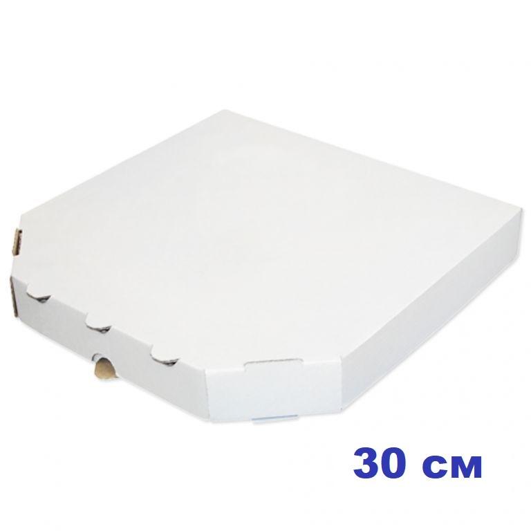 Коробка для пиццы, 30 см белая, 300*300*37, мм