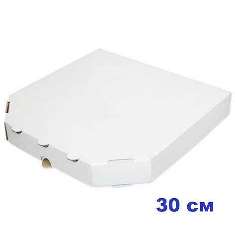 Коробка для пиццы, 30 см белая, 300*300*37, мм, фото 2