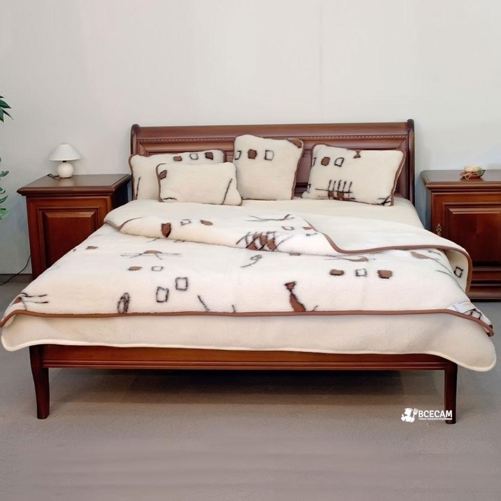 Двухспальное двухслойное одеяло из овчиныНет в наличии