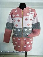 Детская вязаная кофта для девочки 116-128, фото 1