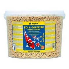 Tropical Koi & Goldfish Basic Sticks 21L\1,5 кг - корм для карпов кои и золотых рыб