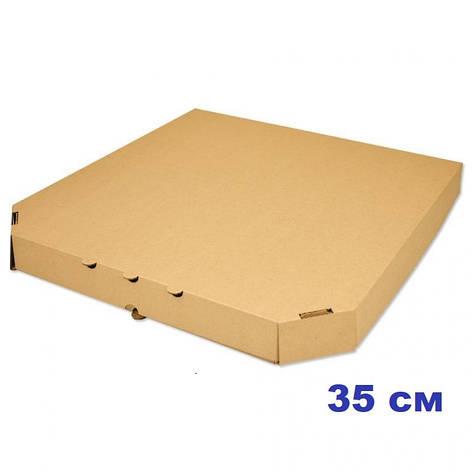Коробка для пиццы, 35 см бурая, 350*350*35, мм, фото 2