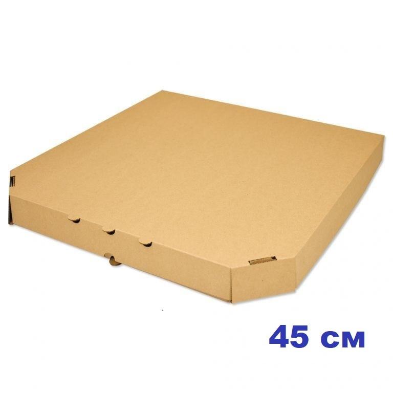 Коробка для пиццы, 45 см бурая, 450*450*40, мм