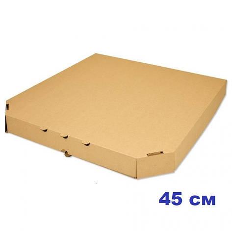 Коробка для пиццы, 45 см бурая, 450*450*40, мм, фото 2