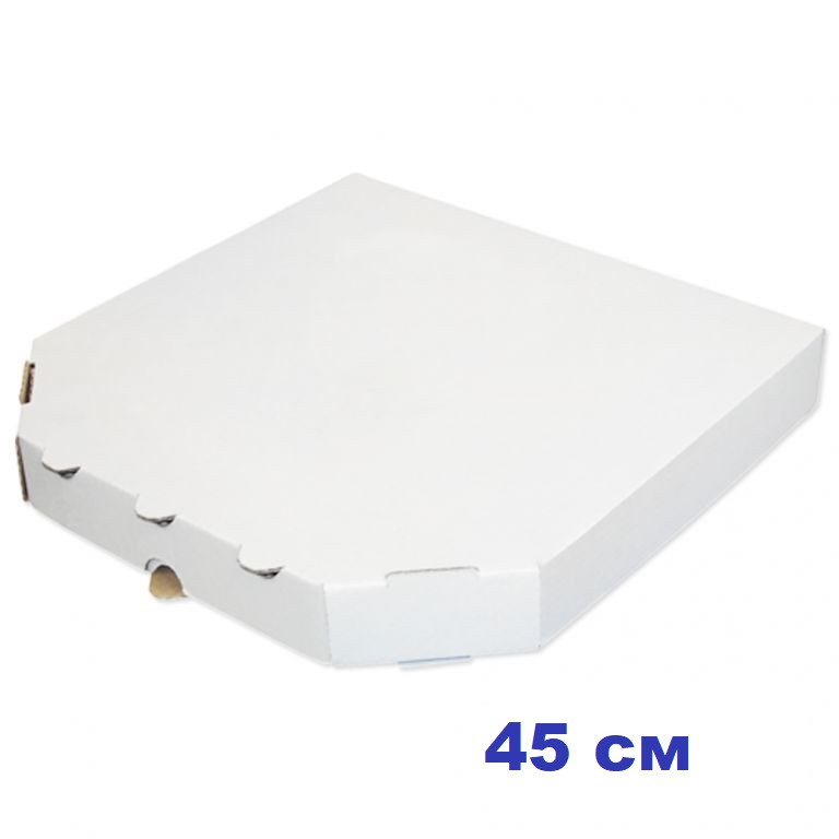 Коробка для пиццы, 45 см белая, 450*450*40, мм