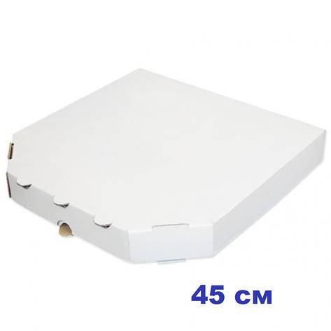 Коробка для пиццы, 45 см белая, 450*450*40, мм, фото 2