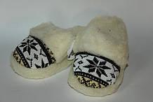 Тапочки с норвежским узором из овчины домашние, тапки из овечьей шерсти, размер 36-41 \ Tvd - 1074