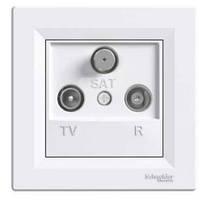 TV-R-SAT Розетка проходная (4dB)  ASFORA Schneider Electric Белый IP44