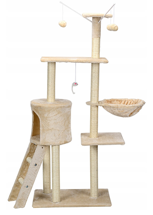 Игровая комплекс с когтеточкой Happy Cats бежевый 130x 55x 36 см, фото 2