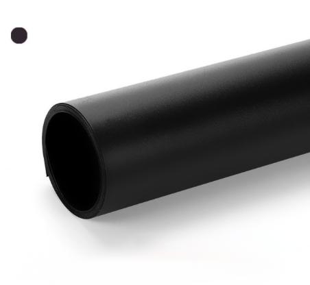 Чорний матовий ПВХ (вініловий) фон Puluz для предметної фото та відео зйомки 200 х 120 див., фото 2