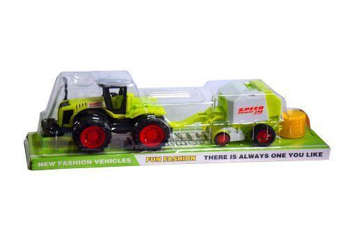 Инерционный трактор с прицепом 666-141A