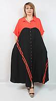 Турецкое летнее женское платье больших размеров 52-64