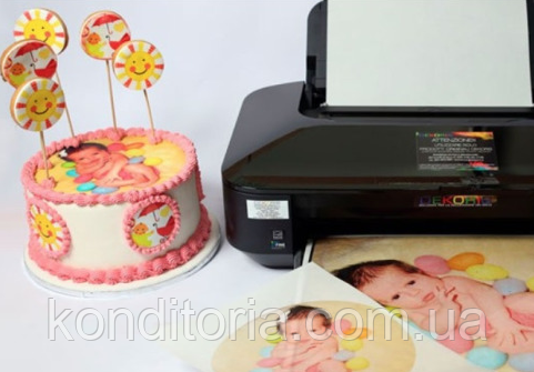 Пищевая печать на сахарной бумаге Super Fine Modecor Италия A4 Наш макет