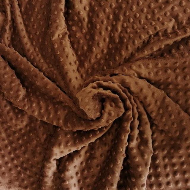 плюш минки точка коричневый