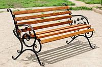 Скамейка парковая *Роза* лавка ,лавиця садова , кованая скамейка, красивая скамейка , скамейка садовая, скамья