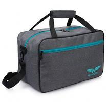 Дорожная сумка WINGS TB01 40x25x20 см ручная кладь RYANAIR и WIZZAR, серая