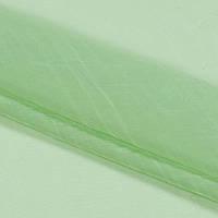 Тюль вуаль жатка, цвет салатовый
