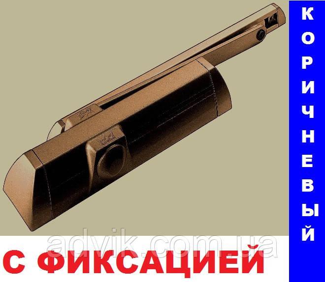 Доводчик Dorma TS 90 Impulse со скользящей тягой с фиксацией (коричневый)*