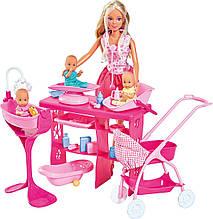 Кукла Штеффи Замечательная опека с тремя малышами и аксессуарами Steffi Simba 5733212