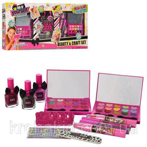 Большой набор детской косметики J-125 набор для маникюра, пилочка, лак, тени, помада - Детская косметика