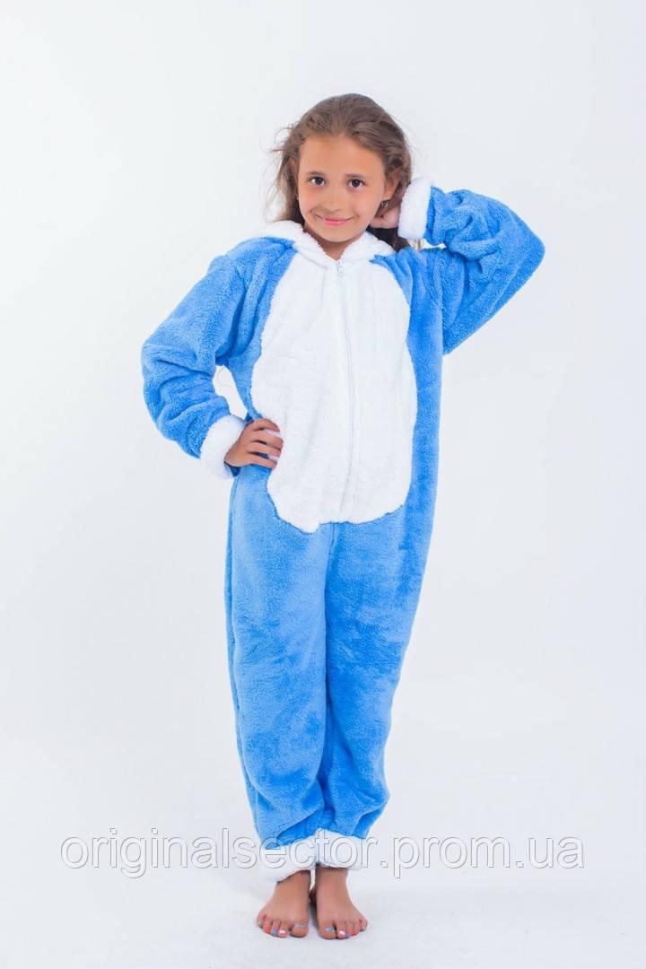 Теплая детская пижама-комбинезон