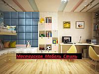 Панель,м'яка плитка,стенновые панелі,м'які стенновые панелі,40х40 див Будь-який колір на вибір екокожа або велюр