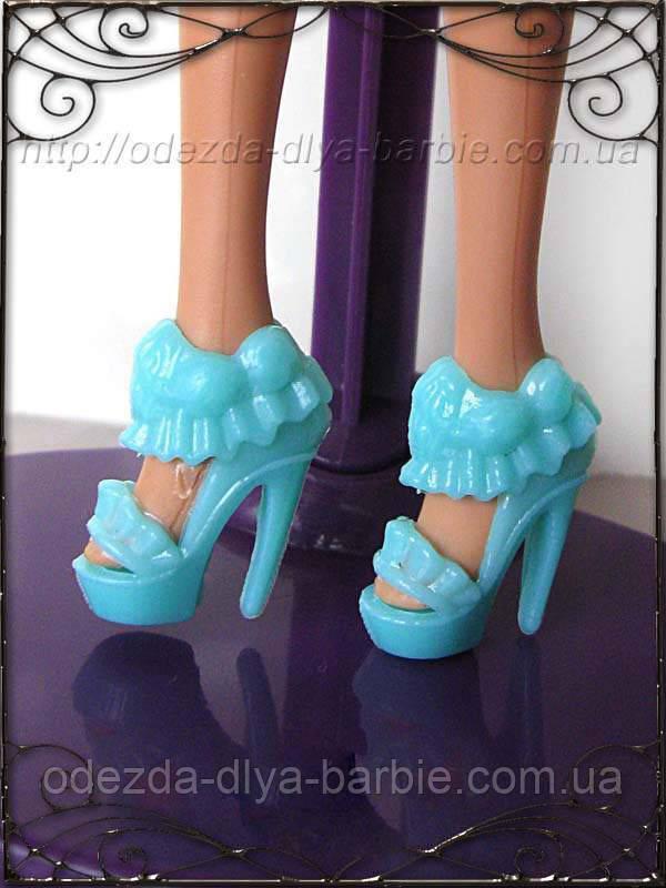 Обувь для Барби - туфли цвета мяты