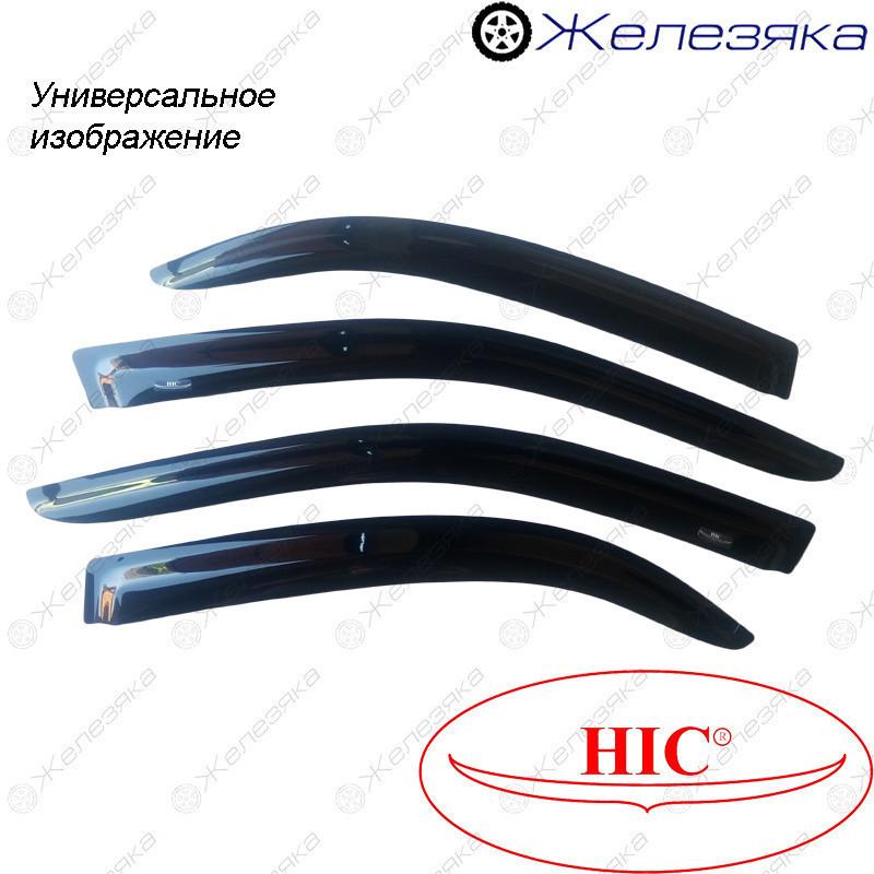 Ветровики Skoda Superb II Sd 2008-2015 (с хром молдингом) (HIC)
