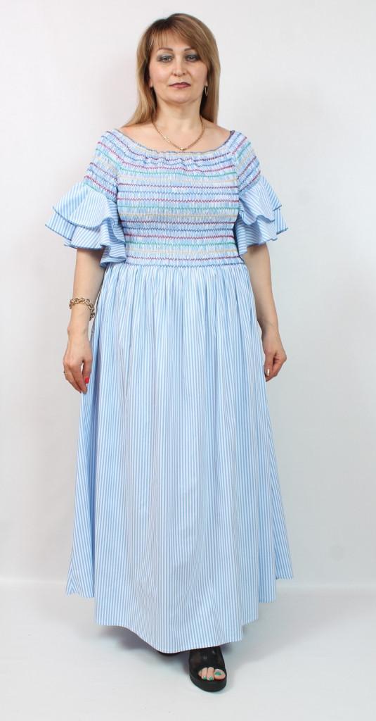 Турецкое летнее длинное женское платье, 52-62