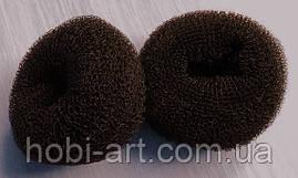 Спонж для волосся  7 см темно-коричневий
