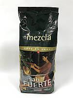 Кава натуральна в зернах 100% арабіка комбінована обжарка Hacendado Mezcla Sabor Fuerte