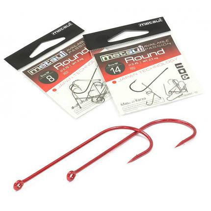 Крючки Metsui ROUND цвет red, размер № 1, в уп. 12 шт. (8803720032335), фото 2