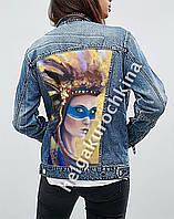Роспись курток. Роспись по одежде. Роспись по джинсовой ткани. Куртка джинсовая. Куртка кожаная, фото 1