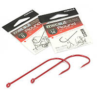 Крючки Metsui ROUND цвет red, размер № 18, в уп. 12 шт. (8803720032380)