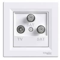 TV-SAT-SAT Розетка оконечная  ASFORA Schneider Electric Белый IP44