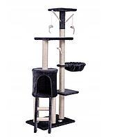 Игровая комплекс с когтеточкой Happy Cats серый 130x 55x 36 см