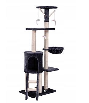 Игровая комплекс с когтеточкой Happy Cats серый 130x 55x 36 см, фото 2