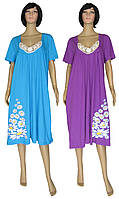 NEW! Эксклюзивные женские ночные рубашки с размерах с 52 по 66 - серия Аппликация/Ромашки ТМ УКРТРИКОТАЖ!