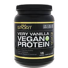 "Веганский протеин California GOLD Nutrition, SPORT ""Flavor Vegan Protein"" вкус ванили (454 г)"