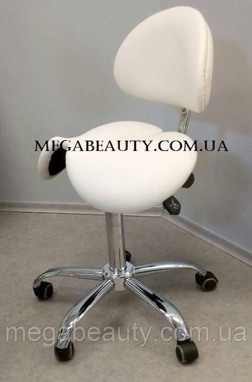 Стул-седло для мастера с разделенным сидением, со спинкой, мод. 4008-1