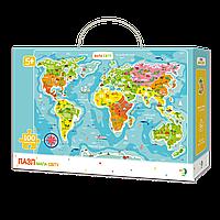 Пазл Карта мира животные Dodo (Пазл-мапа Світу тваринки)